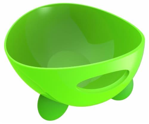 Pet Life  'Modero' Dishwasher Safe Modern Tilted Dog Bowl - One Size / Green Perspective: front