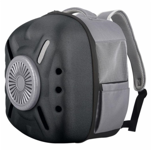 External USB Powered Backpack with Built-in Cooling Fan - One Size / Black Perspective: front