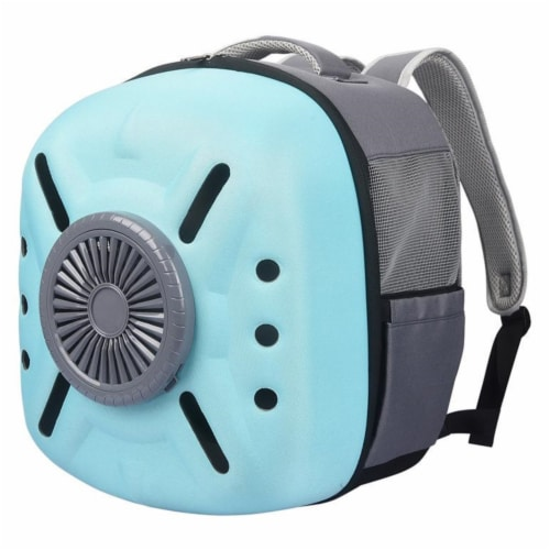 External USB Powered Backpack with Built-in Cooling Fan - One Size / Blue Perspective: front