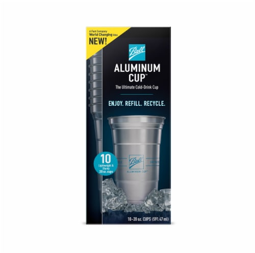 Ball 20-Ounce Aluminum Cups Perspective: front