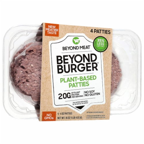 Beyond Meat Beyond Burger Plant-Based Patties Perspective: front