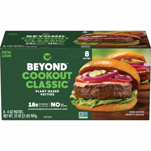 Beyond Meat Cookout Classic Plant-Based Burger Patties Perspective: front