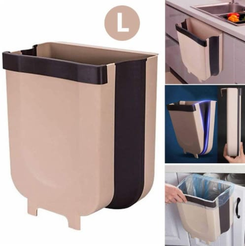 COLLAPSIBLE TRASH CAN BIN TRAVEL SIZE PORTABLE - LARGE 9 L Perspective: front