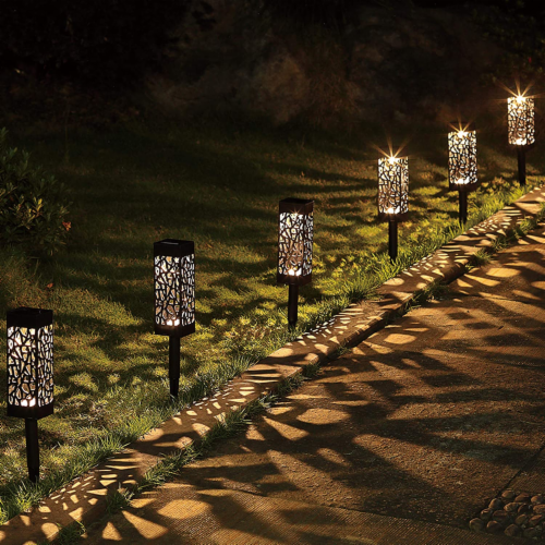 12X Garden Lawn Backyard Patio Solar Led Light Pathway Ground long lasting water proof eco mo Perspective: front