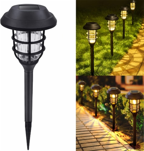 8 pk Solar Led Garden Pathway Lawn Ground Yard Light Water Proof Long lasting -Cool White Perspective: front