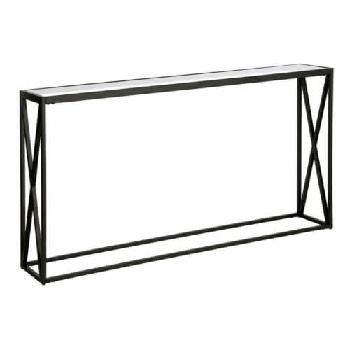 Henn&Hart 55  Black Bronze Console Table Perspective: front