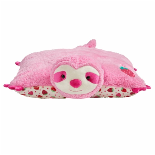 Pillow Pets Sweet Strawberry Scented Sloth Plush Toy Perspective: front