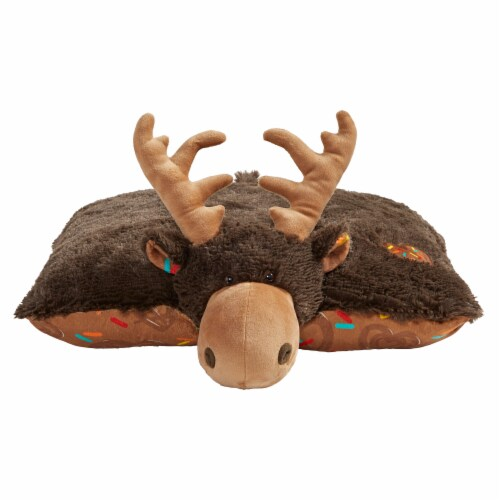 Pillow Pets Sweet Chocolate Scented Moose Plush Toy Perspective: front
