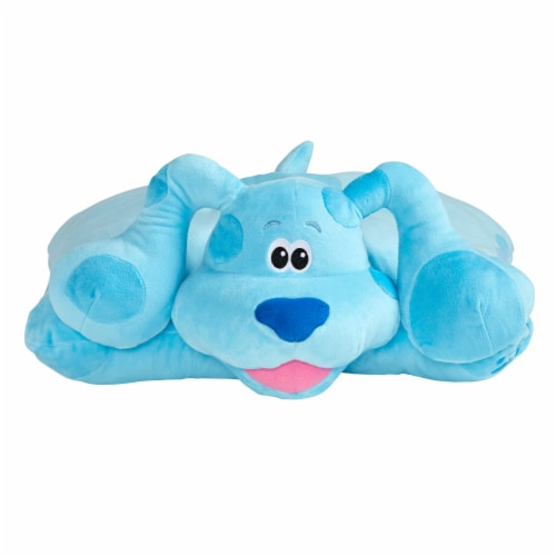 Pillow Pets Jumboz Nickelodeon Blue's Clues Blue Plush Toy Perspective: front