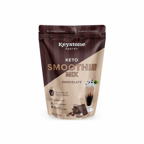 Keystone Pantry chocolate keto smoothie mix 2 pound pouch certified kosher dairy (kof-k) Perspective: front