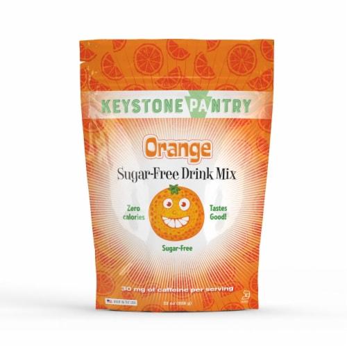Keystone Pantry Sugar-Free Drink Mix Orange Perspective: front