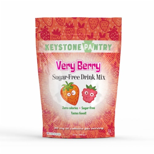 Keystone Pantry Sugar-Free Drink Mix Very Berry Perspective: front