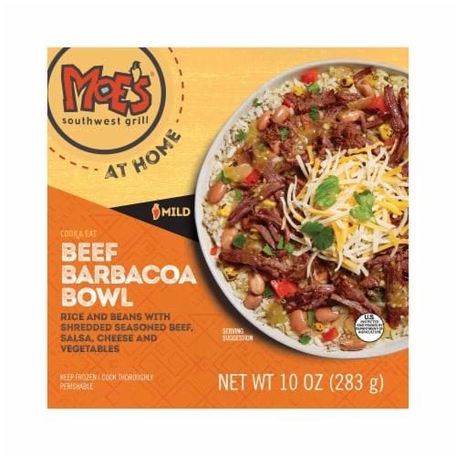 Moe's Beef Barbacoa Bowl Frozen Meal Perspective: front