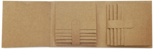 Graphic 45 Staples Trifold Waterfall Folio Album- Perspective: front