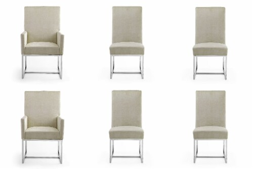Manhattan Comfort Element Champagne Dining Chairs (Set of 6) Perspective: front