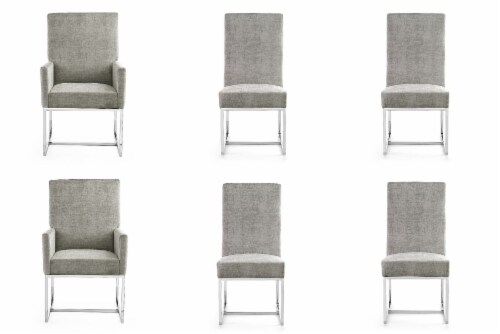 Manhattan Comfort Element Steel Dining Chairs (Set of 6) Perspective: front