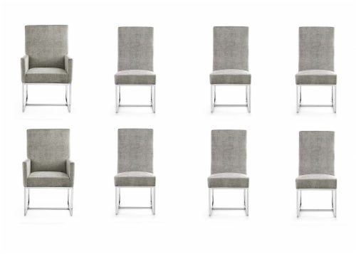 Manhattan Comfort Element Steel Dining Chairs (Set of 8) Perspective: front