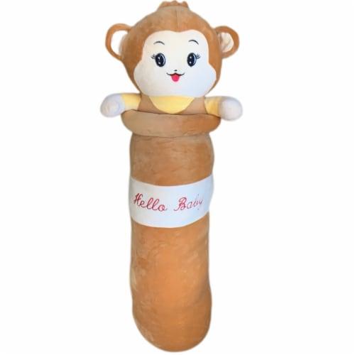Monkey Plush Pillow | Swiss Jasmine Plushies | Stuffed Monkey Plush | Sleep Pillow 35 Inches Perspective: front