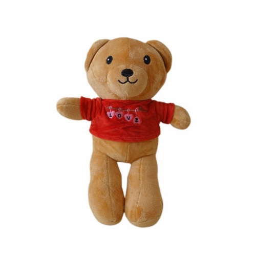 Teddy Bear | Love You Stuffed animal Swiss Jasmine® Plushies | 12 Inches Red Perspective: front