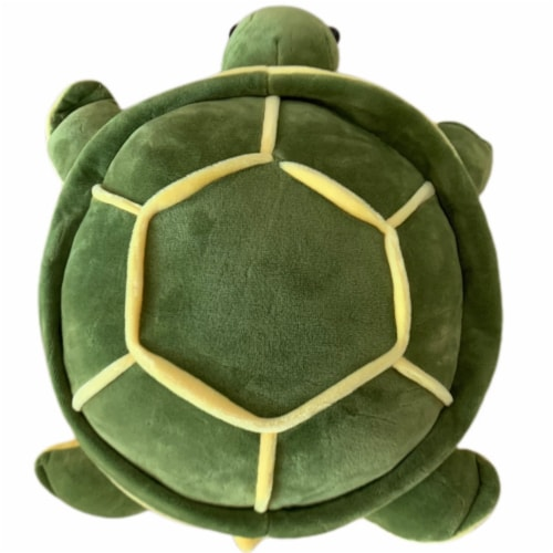 Sea Turtle Plush Toy   Turtle Stuffed Animal   Swiss Jasmine® Plushies   Plush Toy 12 Inches Perspective: front