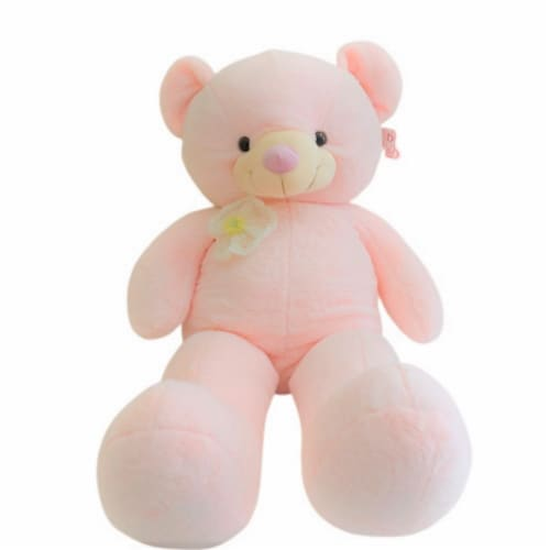 Teddy Bear | Crochet Floral Lace Stuffed Animal | Swiss Jasmine® Plushies | 32 Inches Perspective: front