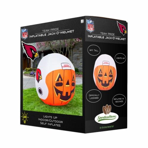 Arizona Cardinals Team Pride Inflatable Jack-O'-Helmet Perspective: front