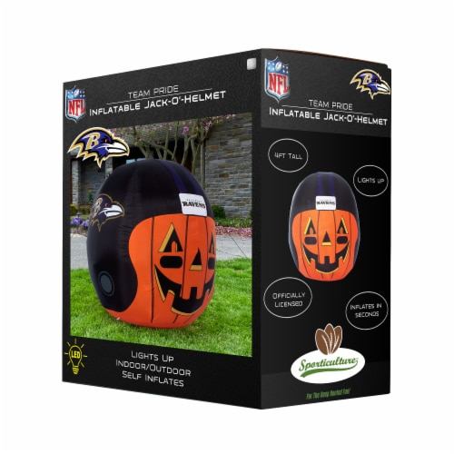 Baltimore Ravens Team Pride Inflatable Jack-O'-Helmet Perspective: front