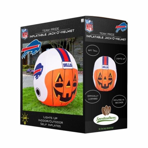 Buffalo Bills Team Pride Inflatable Jack-O'-Helmet Perspective: front