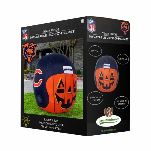 Chicago Bears Team Pride Inflatable Jack-O'-Helmet Perspective: front