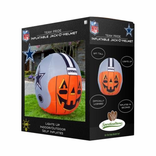 Dallas Cowboys Team Pride Inflatable Jack-O'-Helmet Perspective: front