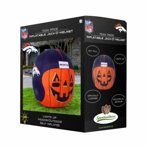 Denver Broncos Team Pride Inflatable Jack-O'-Helmet Perspective: front