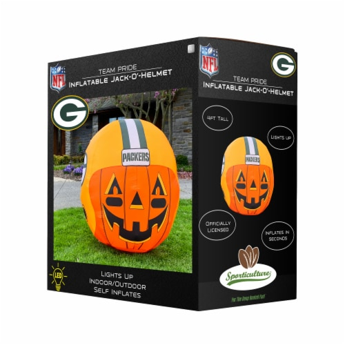 Green Bay Packers Team Pride Inflatable Jack-O'-Helmet Perspective: front