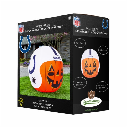 Indianapolis Colts Team Pride Inflatable Jack-O'-Helmet Perspective: front