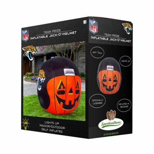 Jacksonville Jaguars Team Pride Inflatable Jack-O'-Helmet Perspective: front