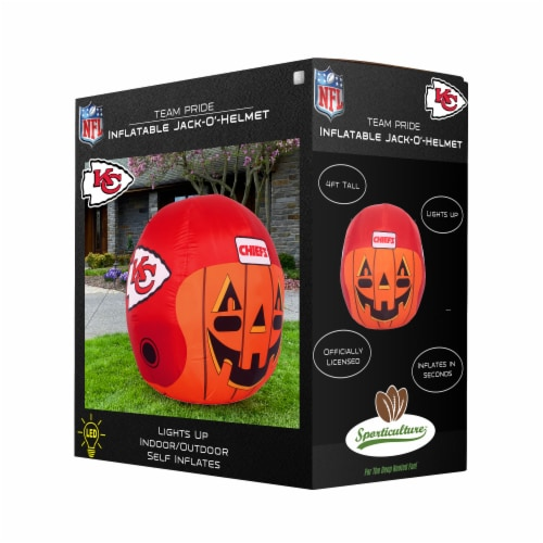 Kansas City Chiefs Team Pride Inflatable Jack-O'-Helmet Perspective: front
