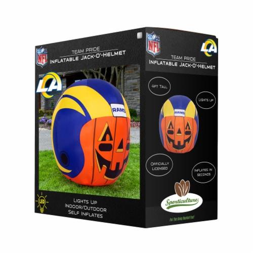 Los Angeles Rams Team Pride Inflatable Jack-O'-Helmet Perspective: front