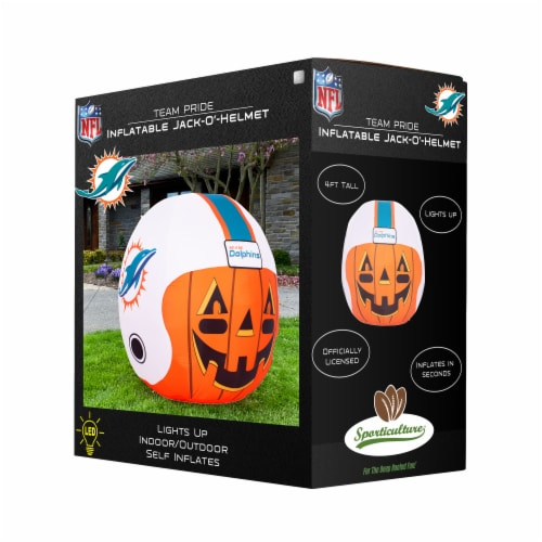 Miami Dolphins Team Pride Inflatable Jack-O'-Helmet Perspective: front