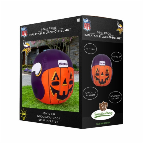 Minnesota Vikings Team Pride Inflatable Jack-O'-Helmet Perspective: front