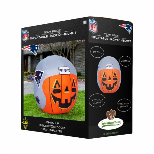 New England Patriots Team Pride Inflatable Jack-O'-Helmet Perspective: front