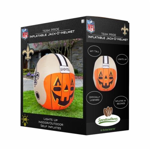 New Orleans Saints Team Pride Inflatable Jack-O'-Helmet Perspective: front