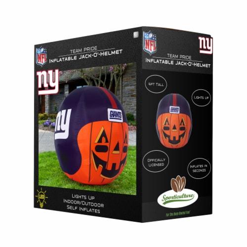 New York Giants Team Pride Inflatable Jack-O'-Helmet Perspective: front