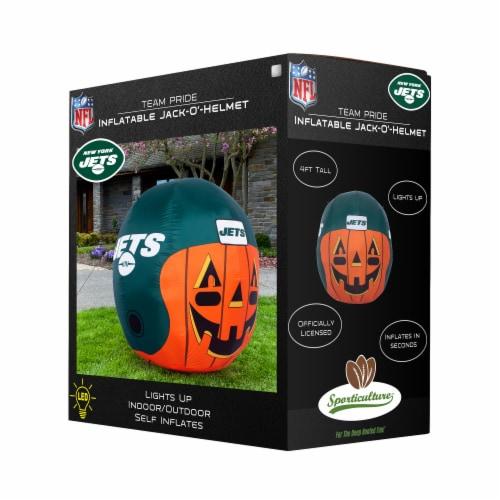 New York Jets Team Pride Inflatable Jack-O'-Helmet Perspective: front