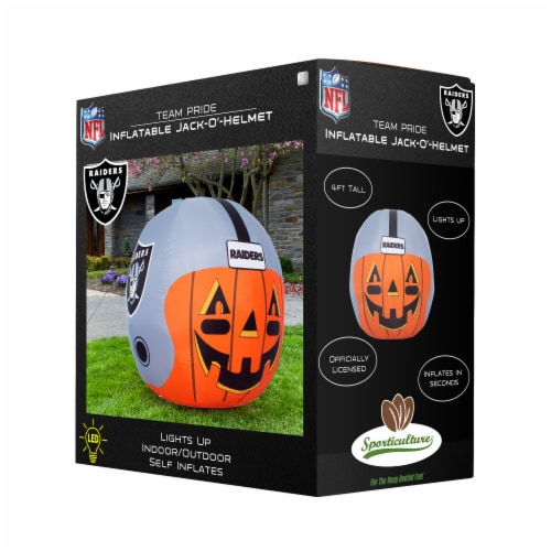 Las Vegas Raiders Team Pride Inflatable Jack-O'-Helmet Perspective: front