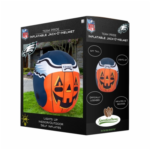 Philadelphia Eagles Team Pride Inflatable Jack-O'-Helmet Perspective: front