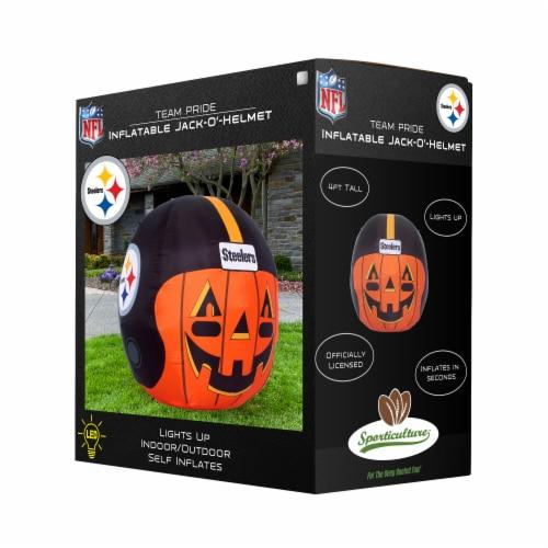 Pittsburgh Steelers Team Pride Inflatable Jack-O'-Helmet Perspective: front