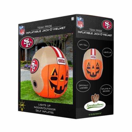 San Francisco 49ers Team Pride Inflatable Jack-O'-Helmet Perspective: front