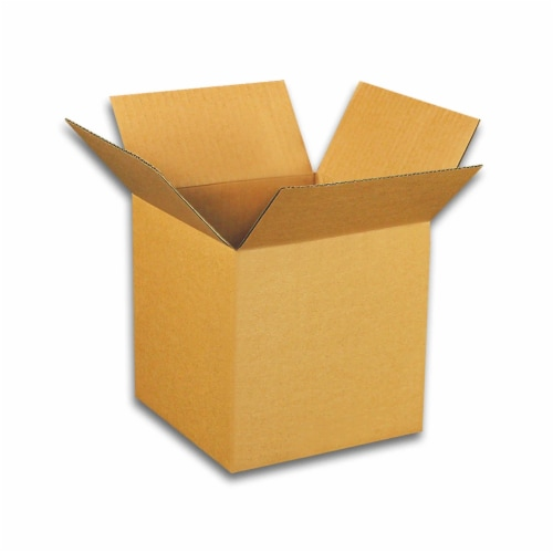 EcoSwift 4 x 4 x 4 Inch Corrugated Cardboard Packing Boxes for Moving (100 Pack) Perspective: front