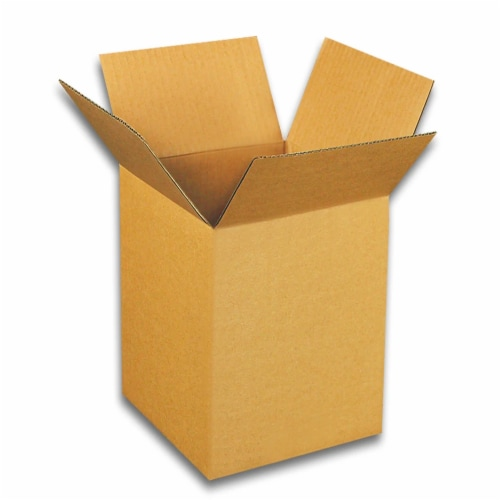 EcoSwift 4 x 4 x 18 Inch Corrugated Cardboard Packing Boxes for Moving (50 Pack) Perspective: front