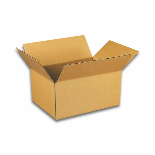 EcoSwift 5 x 4 x 4 Inch Corrugated Cardboard Packing Boxes for Moving (100 Pack) Perspective: front