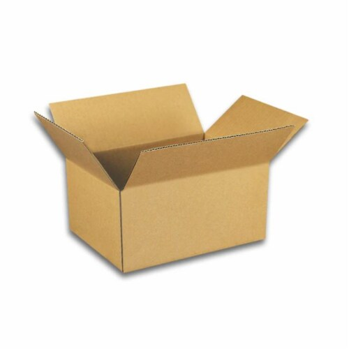 EcoSwift 6 x 4 x 3 Inch Corrugated Cardboard Packing Boxes for Moving (100 Pack) Perspective: front